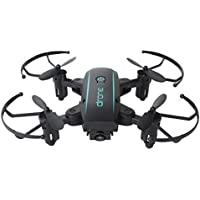Owill Mini Lightweight Wifi FPV 0.3MP HD Camera Foldable 2.4G 6-Axis Selfie Quadcopter Drone (Black)