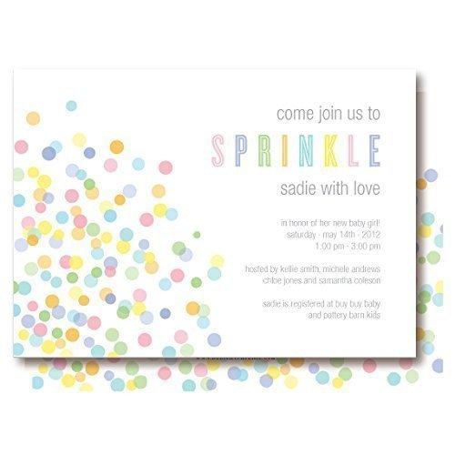 Baby Sprinkle Confetti Invitations -