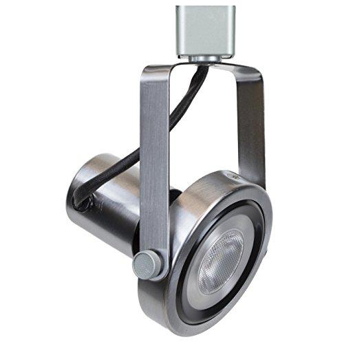 Direct-Lighting 50005 Brushed Steel PAR30 Short Neck Gimbal Ring Line Voltage Track Lighting (Par30 Gimbal Ring Track)