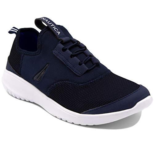 - Nautica Women Fashion Slip-On Sneaker Jogger Comfort Running Shoes-Propeller-Navy Mesh-6