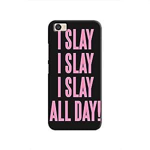 Cover It Up I Slay All Day Hard Case For Vivo V5 Plus, Multi Color