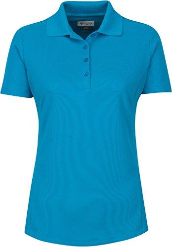 7c8f8aa32 Greg Norman Women s Short Sleeve Protek Micro Pique Polo - Aqua Marine -  X-Small