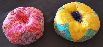 Handmade Nepalese Tibetan Bowl Cushioned Pillow – LARGE