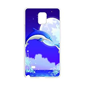 Samsung galaxy note 4 N9100 The dolphins Phone Back Case Art Print Design Hard Shell Protection HG076892