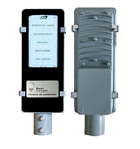 Smart LED Solution 24-Watts Rectangular Street Light, White