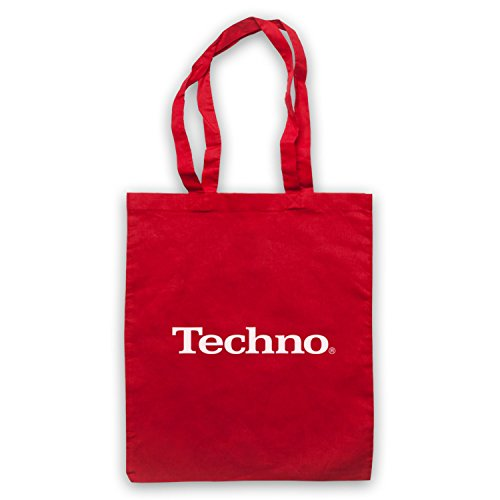Tote Techno Logo Bag Red Parody Music Parody Music Bag Logo Techno Tote q7CBz