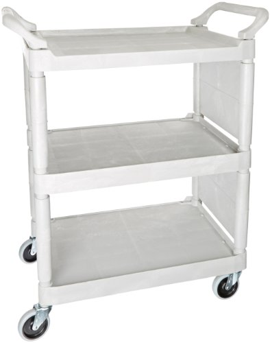 Rubbermaid Commercial Polyethylene Utility Cart, 150-Pound, Platinum