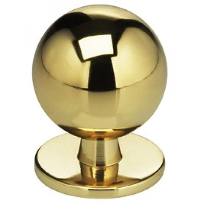 d Knob Finish: Polished Brass, Size: 1.375