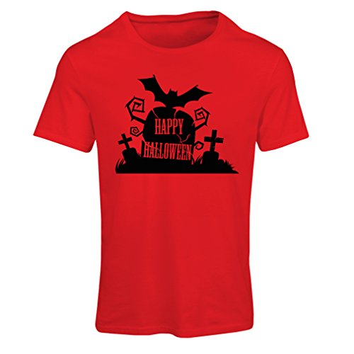 T shirts for women Halloween Graveyard Outifts - Costume Ideas - Cool Horror Design (XX-Large Red Multi Color) (13 Nights Of Halloween Poem)