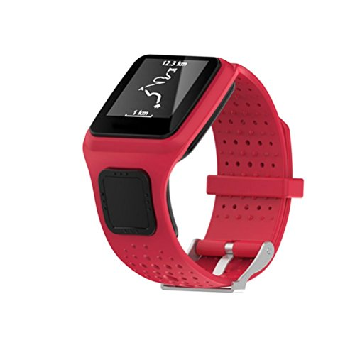 Coohole New Fashion Replacement Silicone Band Strap For TomTom Runner Cardio Sport GPS Watch (Red) Kit Tomtom