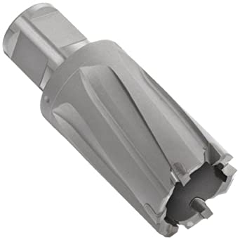 """Jancy Slugger Carbide-Tipped Annular Cutter, Uncoated (Bright) Finish, 3/4"""" Annular Shank, 1"""" Depth"""