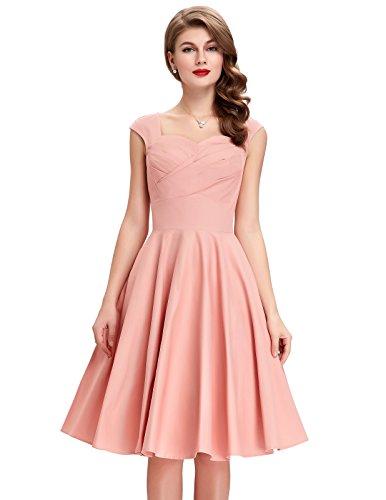 Innamorato Battente Donne 50s Rosa Belle Colori più Retrò Per A Le Abiti 1qd87fxX