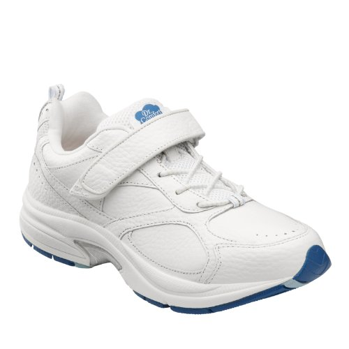 Dr. Comfort Womens Spirit White Diabetic Athletic Shoes White