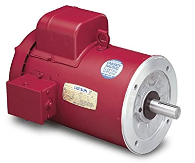 1/2 hp 1725 RPM 56C Frame (Farm Duty) 115/230 Volts Leeson Electric Motor # 110492