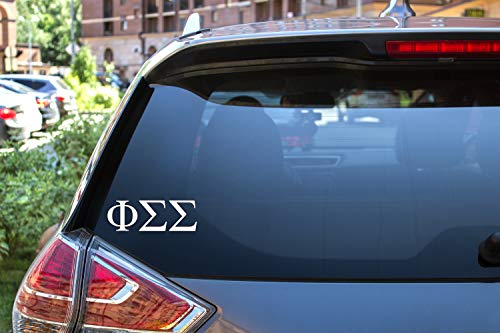 Phi Sigma Sigma Sticker Greek Sorority Decal for Car, Laptop, Windows, Officially Licensed Product, Monogram Design 2.5