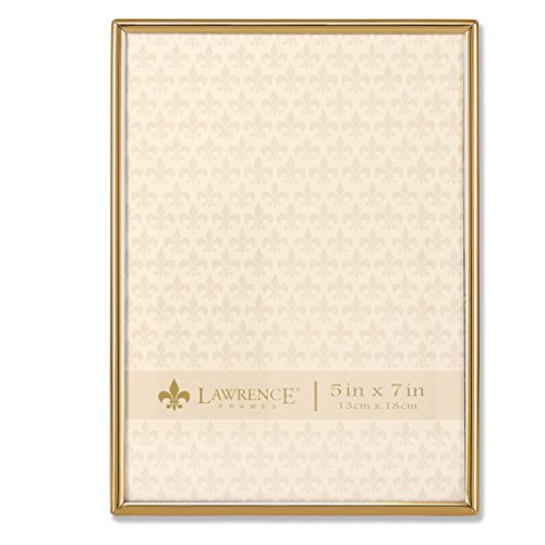 Lawrence Frames 5x7 Simply Gold Metal Picture Frame