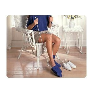 """Sock and Stocking Aid with Built-Up Foam Handles Adult, 9 1/2""""L, 33"""" (24-84cm) Cord - Model 2083"""