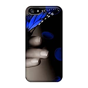 High Impact Dirt/shock Proof Case Cover For Iphone 5/5s (butterfly)