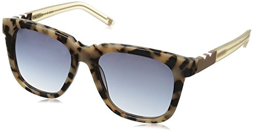 Pared Eyewear Guys and Dolls Cookies and Cream Grey Gradient Lenses Round Sunglasses, Dark Tortoise, 21 - White In Sunglasses Guys