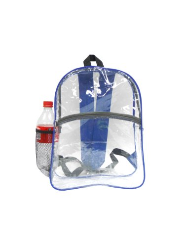 Bags-for-LessTM-Clear-Security-Backpack-Royal-Trim