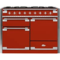 AGA AEL48DF Elise Series 48 Inch Wide 6 Cu. Ft. Slide In Dual Fuel Range with Gl, Scarlet