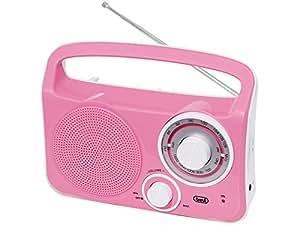 Trevi RA 762 Portátil Analógica Rosa - Radio (Portátil, Analógica, AM, FM, 3,5 mm, C)