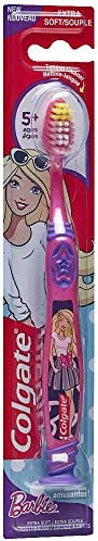 Colgate Kids Extra Soft Toothbrush with Suction Cup, Barbie, 1 Count