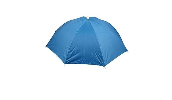 Amazon.com: eDealMax Pesca deportes al aire Libre Campo Cinta elástica Doblado paraguas Sombrero Azul: Home & Kitchen