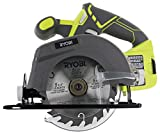 Ryobi One P505 18V Lithium Ion Cordless 5 1/2' 4,700 RPM Circular Saw (Battery Not Included, Power Tool Only), Green (Certified Refurbished)