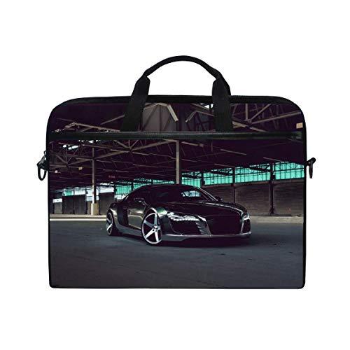 Audi R8 Chrome Cw 5 Matte Black Black Side View Laptop Shoulder Messenger  Bag Case Sleeve for 14 Inch to 15 6 Inch with Adjustable Notebook Shoulder