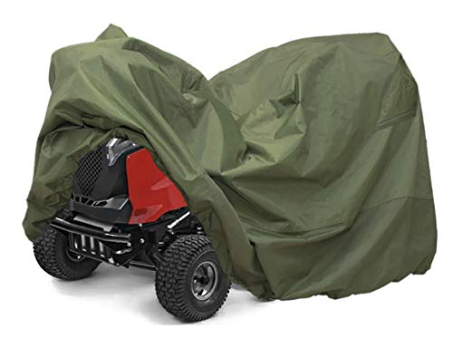 TUOP Riding Lawn Tractor Mower Cover, Heavy Duty, Waterproof, Weather/UV Resistant Up to 54