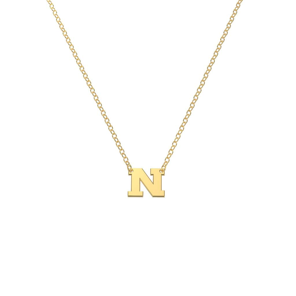 10K Yellow Gold Initial Letter Necklace by JEWLR