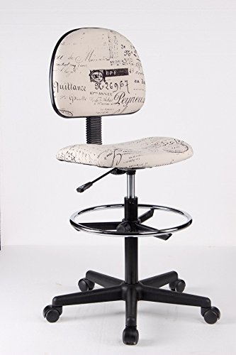 Ez Office Caressoft Drafting Stools with Footring, Adjustable Stool (Multi)