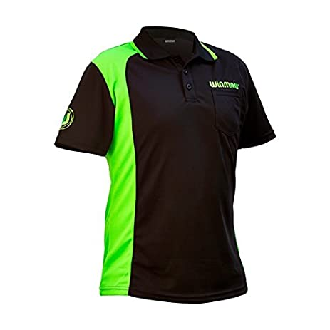 Winmau Wincool 2 Darts Polo Shirt, Medium Black By Perfectdarts
