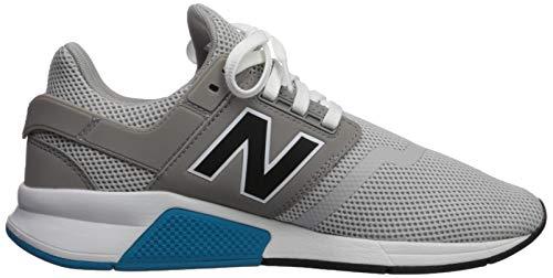 New Balance Men's 247 V2 Sneaker, rain Cloud/Black, 4 D US