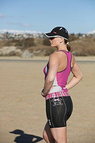 SLS3 Womens Triathlon Tri Bike Shorts | 6 inch Black Skull | Super Comfy  and Durable | German Designed (Black/Skull, S)