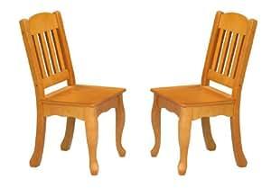 Teamson Kids - Windsor Set of 2 Chairs - Honey
