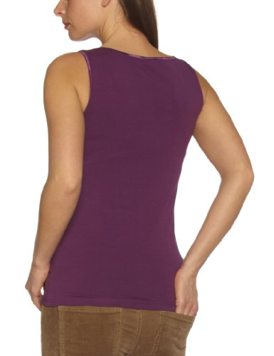 Vero Moda - Camiseta - Casa - Básico - Cuello redondo - Sin mangas - para mujer berenjena
