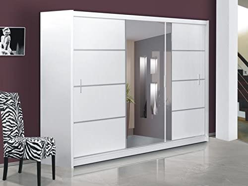Puerta corredera de gran armario con espejo 250 cm, ancho VISTA ...