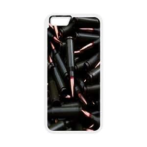 iPhone 6 Case,Weapons Ammunition Hard Shell Back Case for White iPhone 6 Okaycosama325314