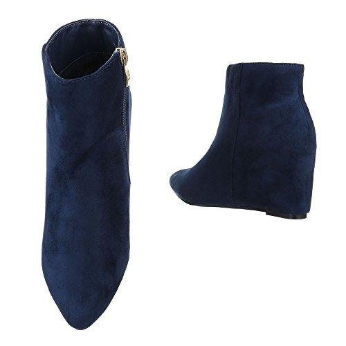 Ital-Design - Plataforma Mujer azul oscuro