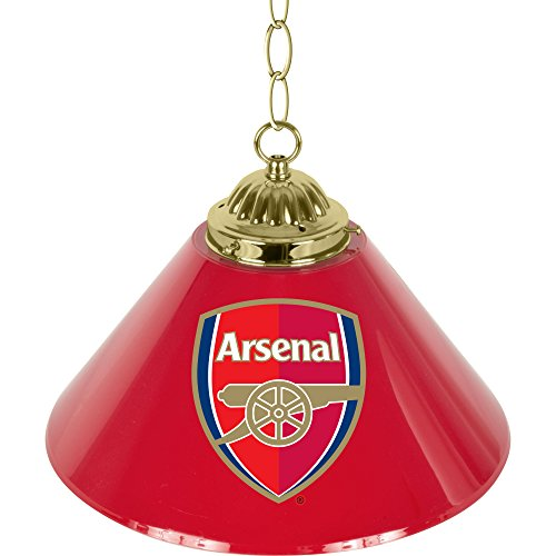 Trademark Gameroom EPL1200-ARS Premier League 14'' Single Shade bar Lamp - Arsenal by Trademark Gameroom