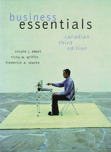 Business Essentials, Third Canadian Edition
