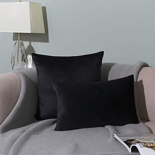 Black velvet sofa cover