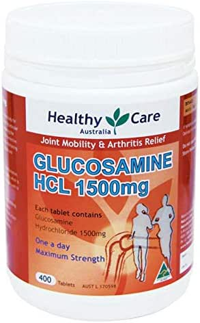 Healthy Care Glucosamine HCL 1500 milligram 400 Tablets