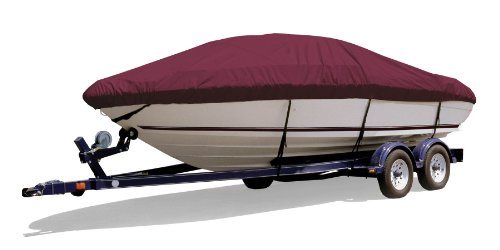 Survivor Marine Products Boat Cover for V-Hull Style Cuddy Cabin (Inboard/Outboard Engine), Cranberry, 21-Feet 5-Inch - 22-Feet 4-Inch Length Overall x 102-Inch Beam Width