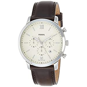 Fossil Analog Off-White Dial Men's Watch-FS5380