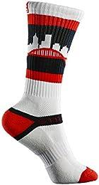 Best Discount Portland Skyline Crew Socks Black Red White