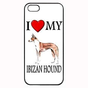 Custom Ibizan Hound I Love My Dog Photo iPhone 5 5S Case Cover Hard Shell