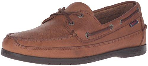 Sebago Men's Schooner Boat Shoe - Tan Tumbled Leather - 9...